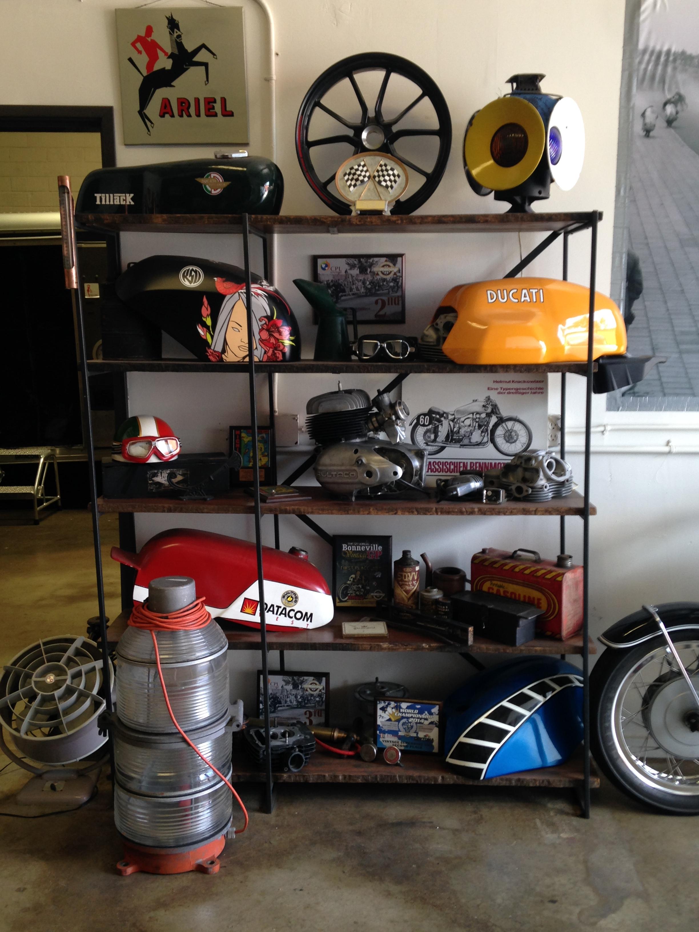 vintage motorcycle garage rental